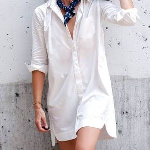 Madewell white shirt dress in size Small